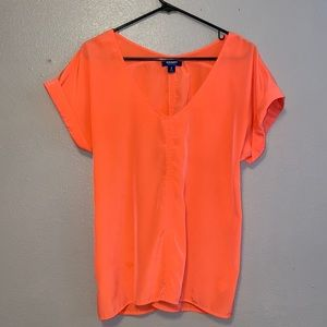M neon salmon blouse from Old Navy
